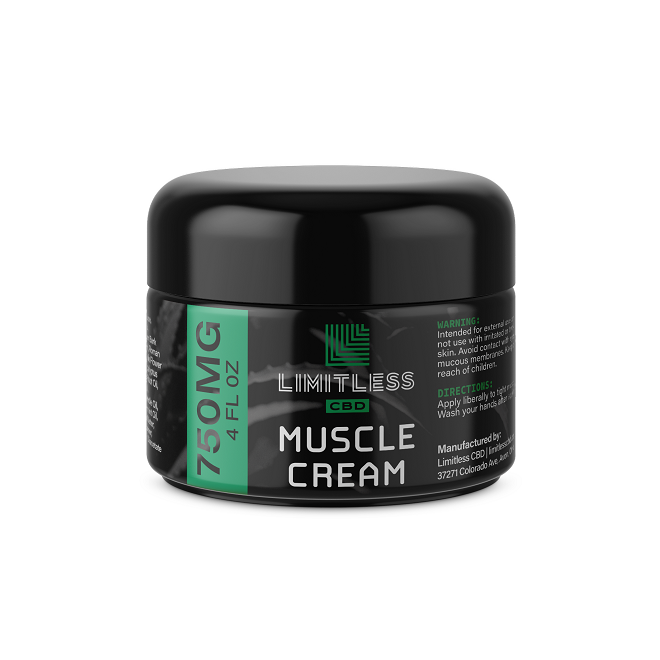 Limitless CBD Muscle Cream 750mg