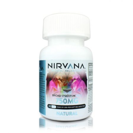 Nirvana CBD Capsules Natural