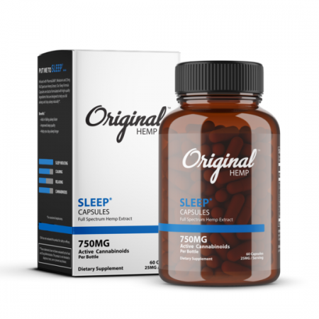 Original Hemp Sleep Full Spectrum Hemp Capsules 750mg