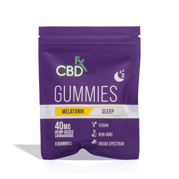 CBDfx Broad Spectrum CBD Gummies Sleep with Melatonin 40mg