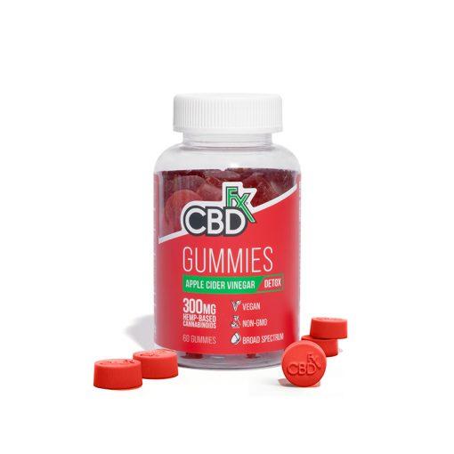 CBDfx Broad Spectrum CBD Gummies with Apple Cider Vinegar 300mg