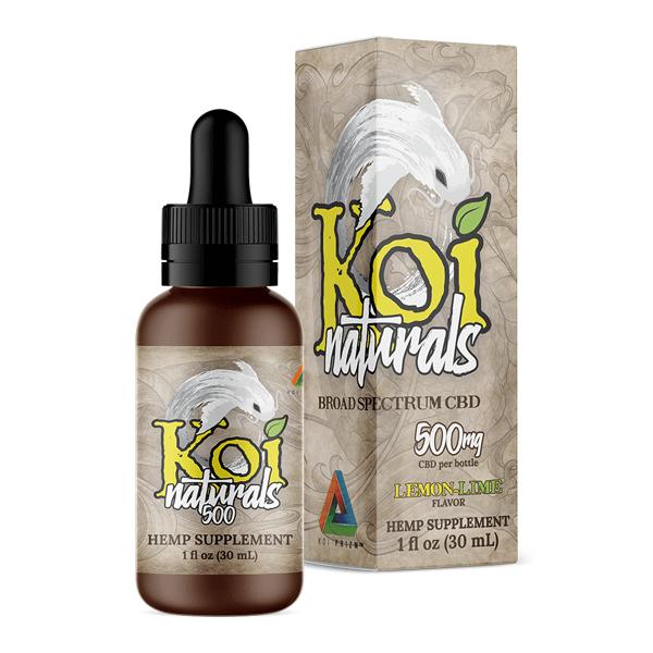 Koi Naturals Lemonlime Full Spectrum Hemp Extract CBD Oil Tincture 500mg