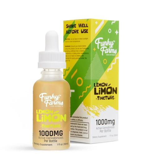 Funky Farms CBD Lemon Limon Tincture 1000mg