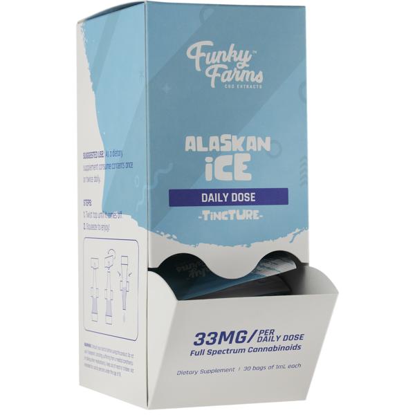 Funky Farms CBD Daily Dose Alaskan Ice Tincture 33MG 1mL