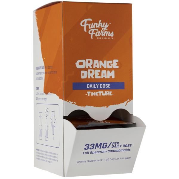 Funky Farms CBD Daily Dose Orange Dream Tincture 33MG 1mL