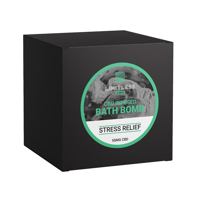 Limitless CBD infused Bath Bomb Stress Relief50mg