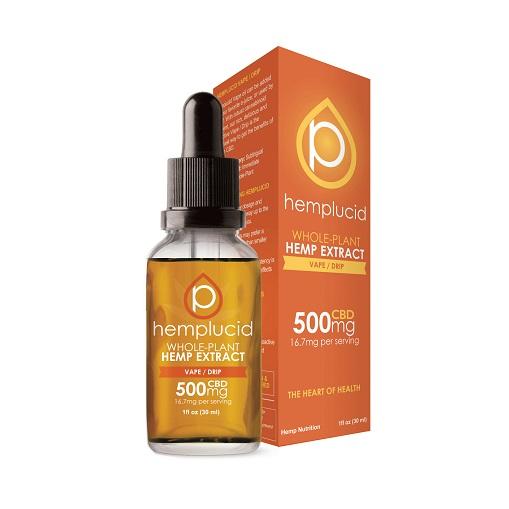Hemplucid Full Spectrum CBD Extract in Vape/Drip Oil 500mg