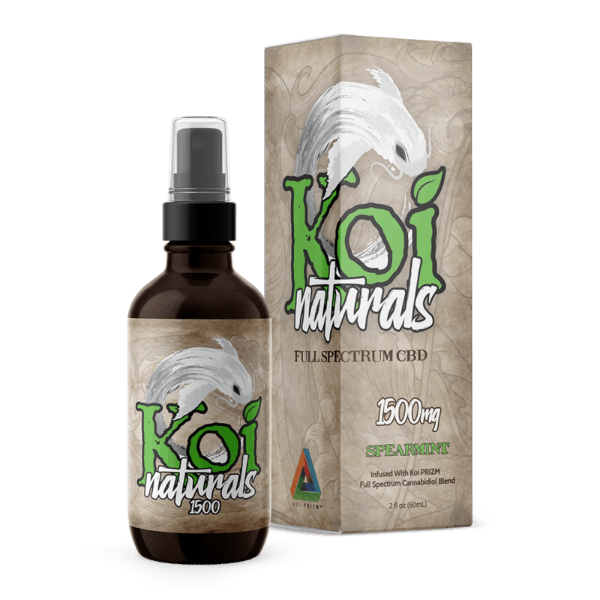 Koi Naturals Spearmint Full Spectrum Hemp Extract CBD Oil Tincture 1500mg