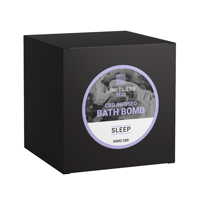 Limitless CBD infused Bath Bomb Sleep 50mg