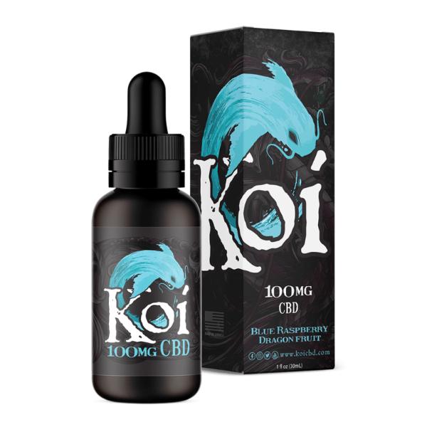 Koi Blue Raspberry Dragon Fruit Hemp Extract CBD Vape Liquid 100mg