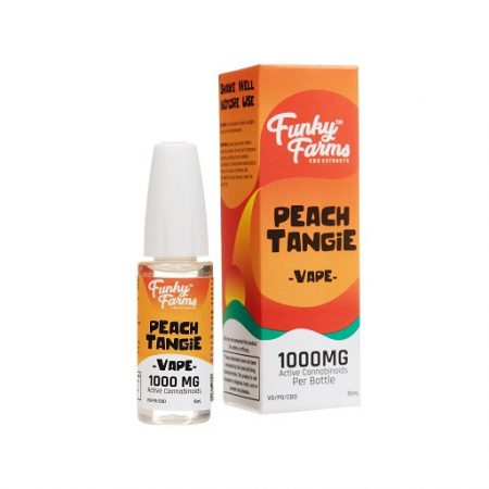 Funky Farms Full Spectrum CBD Peach Tangie Vape Juice 1000mg