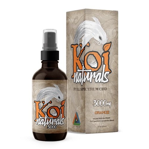 Koi Naturals Orange Full Spectrum Hemp Extract CBD Oil Tincture 3000mg