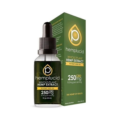 Hemplucid Full Spectrum CBD Extract in Hemp Seed Oil Tincture 250mg