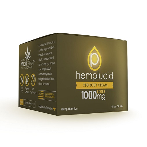 Hemplucid Full Spectrum CBD Body Cream 1000mg