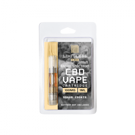 Limitless Broad Spectrum CBD Sugar Cookie Vape Cartridge 1mL