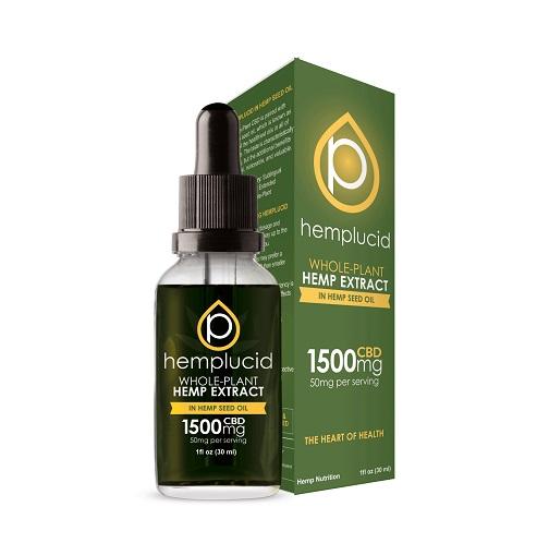 Hemplucid Full Spectrum CBD Extract in Hemp Seed Oil Tincture 1500mg
