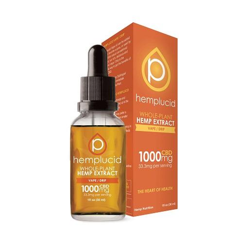 Hemplucid Full Spectrum CBD Extract in Vape/Drip Oil 1000mg