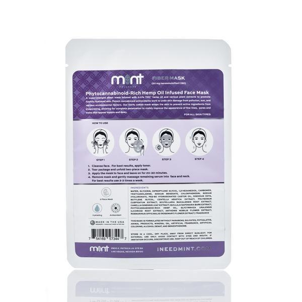 Mint wellness CBD mask