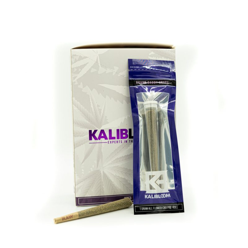 Kalibloom 1 Gram CBD Pre-Roll Grand Daddy Grape
